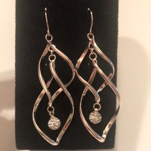 Silver Plated Dangling Earrings, Never Worn
